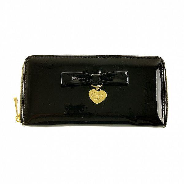Dámska čierna lakovaná peňaženka Hope