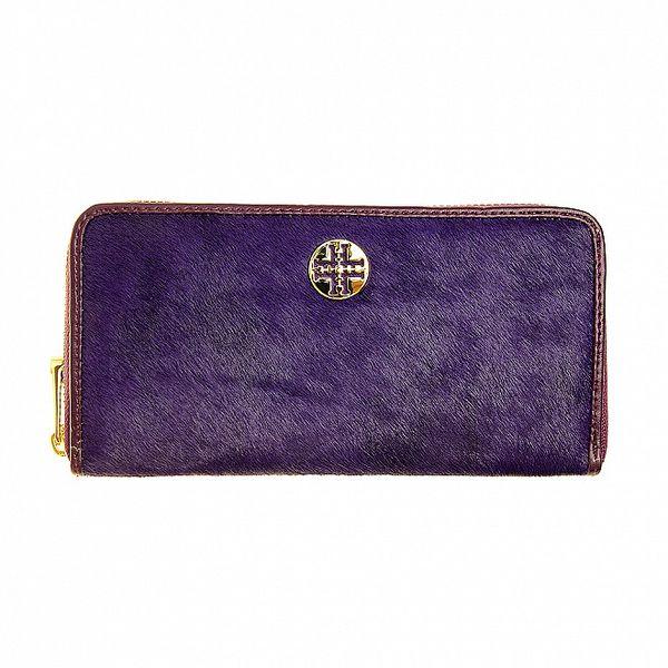 Dámská fialová kožešinová peněženka Hope