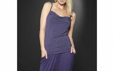 Dámske fialové domáce nohavice After Eden so zníženým sedom