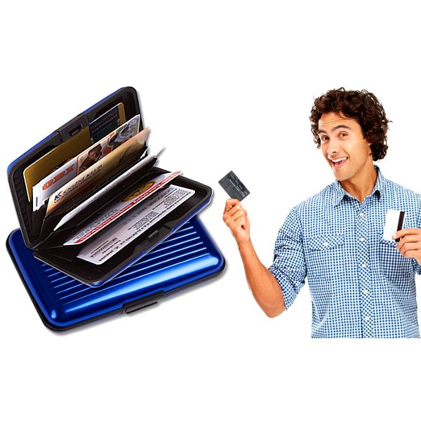 Pouzdro na doklady a platební karty vyrobené z odolného hliníku
