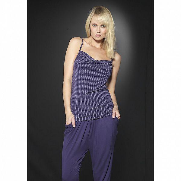 Dámské fialové domácí kalhoty After Eden se sníženým sedem