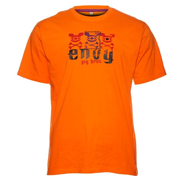 Pánské oranžové tričko Envy s potiskem