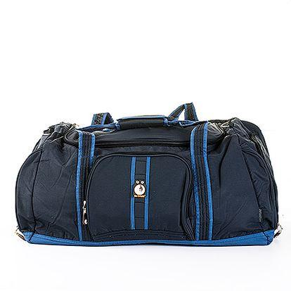 Velká modrá sportovní taška