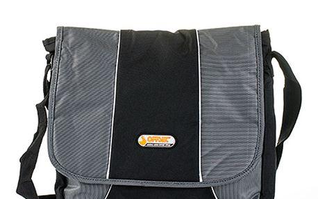 Šedo-černá taška přes rameno