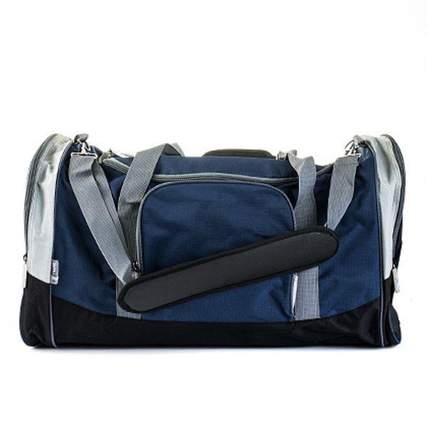 Velká modro-šedá sportovní taška