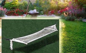 Houpací síť na zahradu s nosností 100 kg!