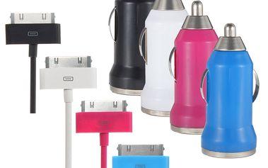 2 v 1 barevná nabíječka do auta + kabel iPhone / iPod / iPad a poštovné ZDARMA! - 452