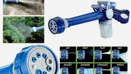 Zahradní vodní dělo s 8 možnostmi nastavení!