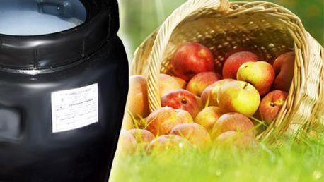 Černý plastový potravinářský sud 250 l