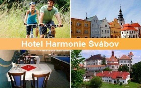 8denní DOVOLENÁ pro 2 s PLNOU PENZÍ! Báječný pobyt v Hotelu Harmonie na Vysočině.