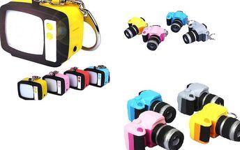 Svítící klíčenka se supersvítivou LED diodou - fotoaparát, televize a poštovné ZDARMA! - 453