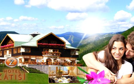 TŘI DNY s POLOPENZÍ a WELLNESS v krásném hotelu Zátiší*** ve Špindlerově mlýně jen za 2490 Kč pro dva! V ceně privátní SAUNA s WHIRPOOLEM, bowling, billiard a svačina na výlet! Jedinečná atmosféra Krkonoš se slevou 58%!