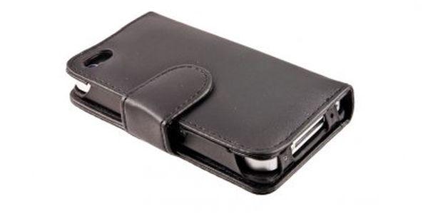 Zavírací kožené pouzdro pro mobilní telefon iPhone 4 s magnetickou klipsou, které ochrání Váš iPhone od všech nárazů a oděrků!!