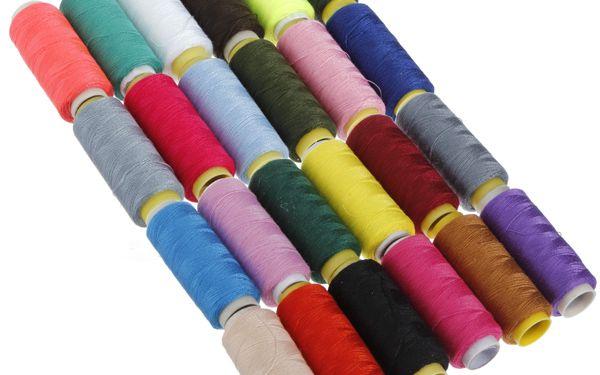 Sada polyesterových nití - 24 kusů různých barev a poštovné ZDARMA! - 95