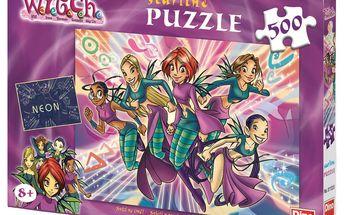 Svítící puzzle DINO 500 dílků - Magické Witch
