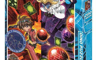Svítící puzzle DINO 200 dílků - Bakugan: Útok / Neon