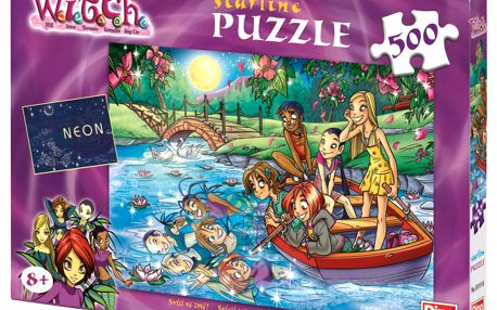 Svítící puzzle DINO 500 dílků - Witch: Tajemná noc