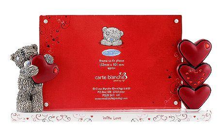 Krásný fotorámeček s 3D postavičkou medvídka With Love - Me to You