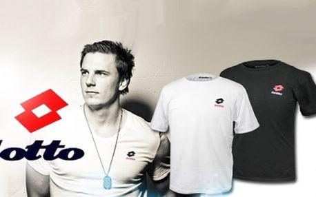 2 PÁNSKÁ TRIKA prestižní italské značky Lotto za skvělých 299 Kč! Osobní odběr ZDARMA! Na výběr černé nebo bílé a několika velikostí M - XXL! Sleva 50%!