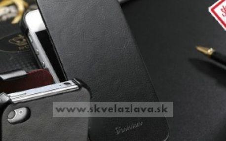 Elegantné výklopné PU kožené púzdro + ochranná fólia a dotykové pero na displej pre iPhone 4/4S za 10,50 € aj s poštovným!