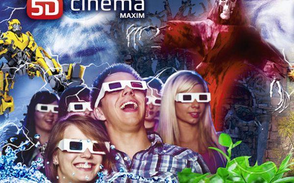 2 vstupenky do 5D KINA za 85 Kč! Spojte fikci s realitou díky 5D-cinema MAXIM!
