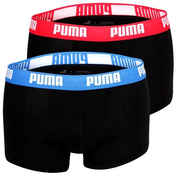 2PACK Pánské Boxerky Puma Black - Red / Blue Short - Doprava zdarma při nákupu nad 1000 Kč