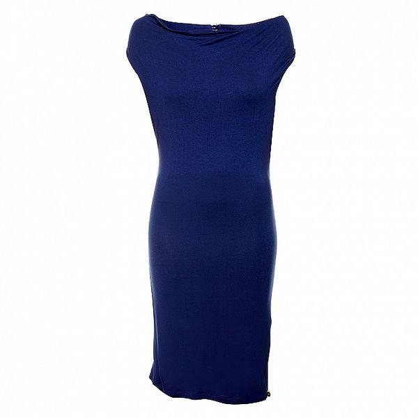 Dámské elegantní temně modré šaty Phard