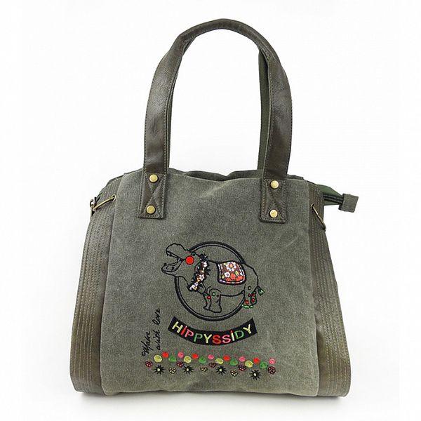 Dámska khaki kabelka Hippyssidy