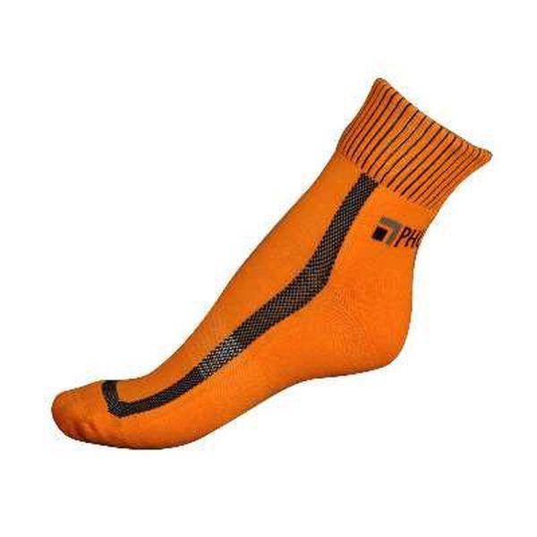 "Vyšší kotníkové ponožky Phuseckle Oranžovo/černé ""U"""