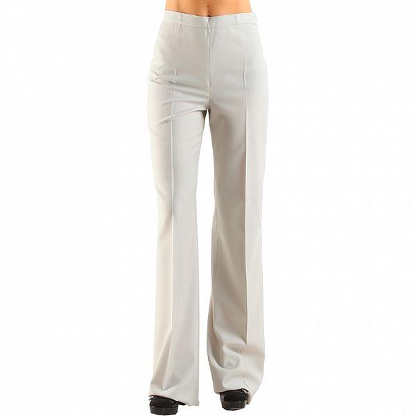 Dámske biele nohavice Calvin Klein s pukmi