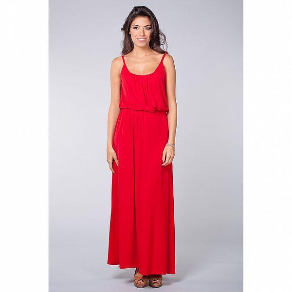 Dámské sytě červené šaty Blue Velvet