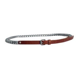 Dámský pásek Red Hot cihlový s kovovou dekorací