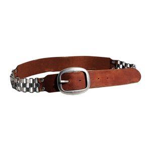 Dámský pásek Red Hot cihlový zdobený