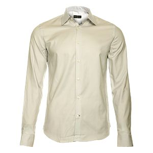Pánska svetlo šedá košeľa s dlhým rukávom Roberto Verino