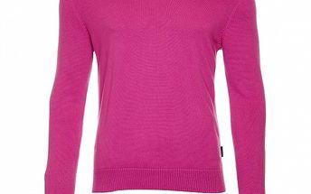 Pánsky fuchsiový sveter s výstrihom do V Roberto Verino