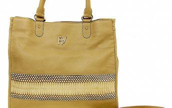 Dámská béžová kabelka s odepínatelným popruhem Roberto Verino