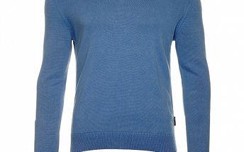 Pánsky modrý sveter s výstrihom do V Roberto Verino