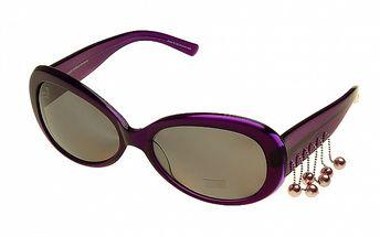 Dámske fialové slnečné okuliare Axcent s príveskami