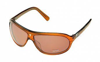 Dámske oranžové žíhané slnečné okuliare Axcent