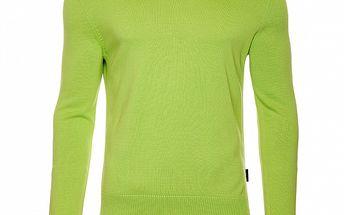 Pánsky zelený sveter s výstrihom do V Roberto Verino