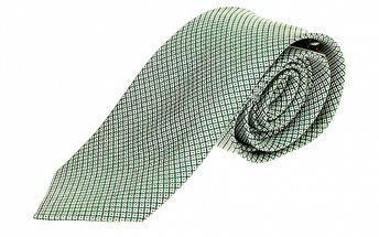Pánska zelená kravata so vzorkou Roberto Verino