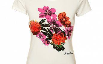 Dámské tričko s barevným potiskem Roberto Verino