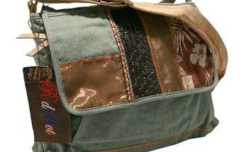Dámská taška přes rameno Red Hot modro-hnědá jeans