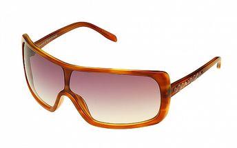 Dámské jantarově zlaté sluneční brýle Axcent