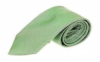 Pánská zelená pruhovaná kravata Roberto Verino.