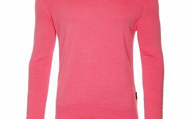 Pánsky ružový sveter s výstrihom do V Roberto Verino