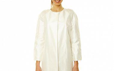 Dámský bílý hedvábný kabátek s 3/4 rukávy Roberto Verino