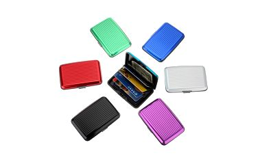 Vodotěsné hliníkové pouzdro na platební karty a vizitky v 7 barvách a poštovné ZDARMA! - 455