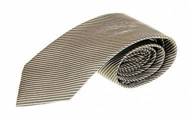 Pánská hnědá pruhovaná kravata Roberto Verino