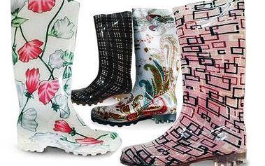 Moderní dámské holínky s trendy designem.